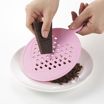 チョコ削り器使用例